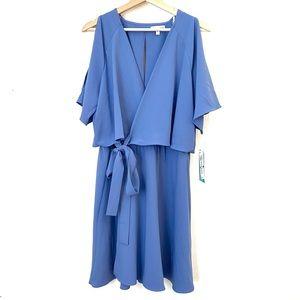 Gianni Bini Flowy Wrap Mini Dress XL NWT